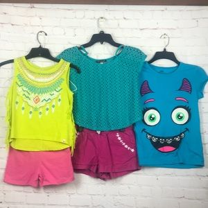 10/12 Children's Place summer tops/ shorts